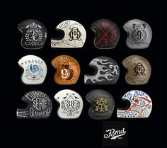 Helmets Private Collection by BMD Design , via Behance