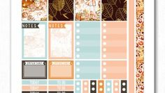Fall Glam Printable Planner Stickers