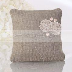 Vendita online Cuscino porta fedi in juta Doilies, Needlework, Cross Stitch, Reusable Tote Bags, Throw Pillows, Embroidery, Confetti, Weddings, Flowers