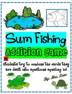 Sum Fishing Addition Game! (For Elementary)