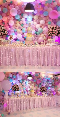 Most Popular disney birthday party themes decoration ideas Candy Theme Birthday Party, 2 Birthday, Princess Theme Birthday, 1st Birthday Party For Girls, Girl Birthday Decorations, Girl Baby Shower Decorations, Carnival Birthday Parties, Unicorn Birthday Parties, Disney Birthday