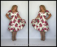 Lady V London Lady Voluptuous Phoebe Dress reviewed: http://www.curvywordy.com/2015/06/lady-v-london-lady-voluptuous-pink-rose.html