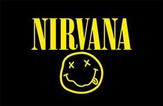 Nirvana The Nirvana logo is easily one of the most recognisable in the music industry One of the most recognisable logos in music history, the Nirvana logo design has been a common sight T-shirts for over two decades. Featuring an Onyx typeface and a smiley face - said to be inspired by a strip club in Seattle - the juxtaposing colours make this an iconic band logo design.