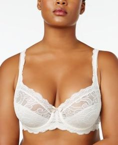 Playtex Love My Curves Beautiful Lace & Lift Plus Size Lace Bra US4825 - Brown 38DDD