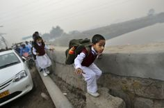 School Under a Bridge in New Delhi Offers Free Education To India's Poor Children :)
