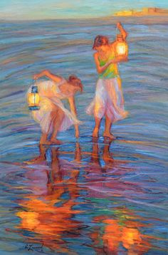 I love the light in this painting.  Copyright  Diane Leonard