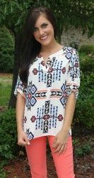 love this entire outfit! - Tribal Blouse