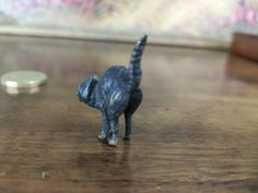 Antique Austrian Cold Painted Vienna Bronze Miniature Scared Cat | eBay