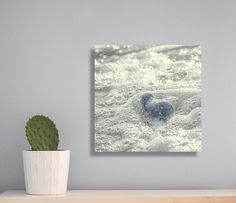 Heart photography Heart Stone photo print Sea photography Sea Foam photography Gift for Sea Lovers Wedding gift  Minimal Grey wall decor by LightBluePhotography on Etsy
