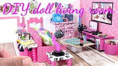 Barbie Doll 1:6 Living Room Bedroom Kitchen Furniture Miniature Phone Telephone