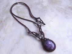 charoite necklace