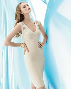 untraditional wedding dress herve leger bandage dress