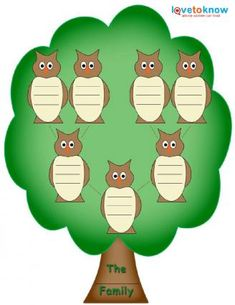 Family Tree Template for Kids - use outline on hand print quilt cornerstone