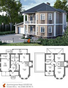2 Storey House Design, Duplex House Design, Dream Home Design, Sims House Plans, Modern House Plans, House Outside Design, Beautiful House Plans, Architectural House Plans, Fantasy House