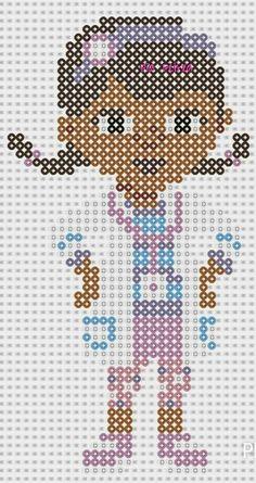 Dottie - Disney Doc McStuffins Perler pattern by Pia Petrea