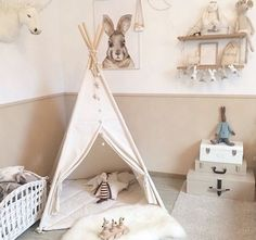A child's room 😍 with Teepee Natural Beige from Fun with Mum