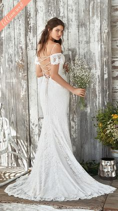 c90f545ac38 Style 66047  Mystical romance is created in this allover delicate lace fit  and flare gown