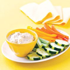 7 quick dips    Be ready for parties, tailgates or just have an easy snack on hand with these simple dips and spreads.      Blue-Cheese-Chive Sauce      Cheese and Guinness Spread      Black Bean Dip with Baby Carrots      Creamy Greek Feta Dip      Spinach Dip with Crudités      Garlicky Roasted Red Pepper Dip      Grilled Sweet Potato Fingers with Curry Dip