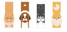 marcadores de pagina cachorro criatividade ativa