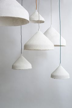 handcrafted linen paper light Handcrafted in a parisian workshop, this stunning light called Chapito Interior Lighting, Lighting Design, Lighting Ideas, Diy Luminaire, Plug In Pendant Light, Lampe Art Deco, Lamp Makeover, Small Lamps, Ceramic Light