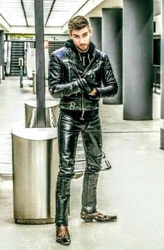 Leather makes the man.