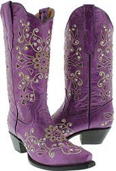 Womens Cowboy Boots Ladies Leather Rhinestone Crystal Love the purple! Purple Cowboy Boots, Purple Boots, Cowboy Boots Women, Cowgirl Boots, Western Boots, Rodeo Cowgirl, Country Boots, Vintage Cowgirl, Sexy Cowgirl