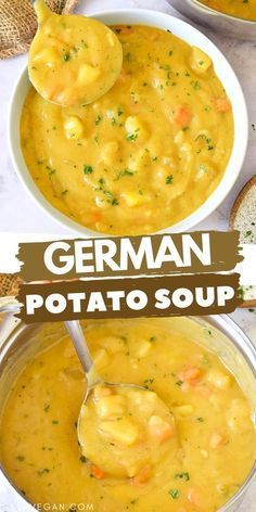 Easy Soup Recipes, Whole Food Recipes, Cooking Recipes, Potato Soup Recipes, Easy Potato Soup, Carrot Potato Soup, Cream Soup Recipes, Cream Of Potato Soup, Cream Soups