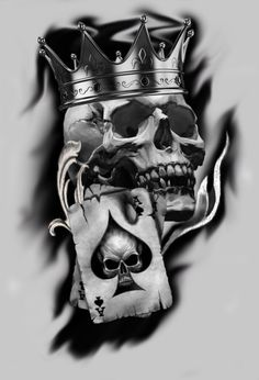 Lower back tattoos king skull tattoo design, smoking sku. Skull Tattoo Design, Skull Tattoos, Body Art Tattoos, Sleeve Tattoos, Tattoo Designs, Tattoo Ideas, Totenkopf Tattoos, Badass Tattoos, Skulls And Roses