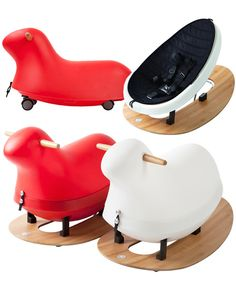 Rokii convertible baby rocker, rocking horse and ride-on/ Rock this toy from newborn to pre-school.