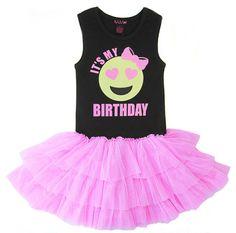 Birthday Dress, Girls Emoji Birthday, Birthday Girl, Tween Clothing, Emoji Face, Happy Face, Emoji Birthday Party by madgrrl on Etsy https://www.etsy.com/listing/277280830/birthday-dress-girls-emoji-birthday