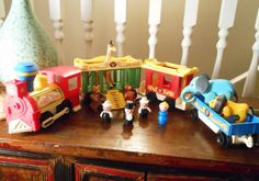 Vintage+Fisher+Price+Little+People+Circus+Train+by+WrathofRa,+$76.50