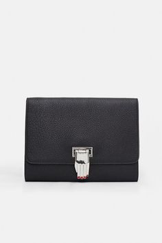 OPENING CEREMONY NOKKI PEBBLED LEATHER HAND CLASP CLUTCH