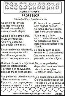 PROFESSOR          Olívia Fátima Batista Miranda     Ao amigo de jornada,   que luta no dia a dia.   Uma doce sau...