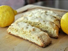 Lemon Pine Nut Biscotti ~ Bright lemon and rich pine nuts balance each other in this easy biscotti.  Note: When I say easy, I mean it: I like to use good old fashioned man power and just whisk the eggs and sugar together. If you'd like, you can use an electric beater.  You can either make large 4-inch cookies or smaller 2-inch cookies. If making the latter, simply divide the dough in two and shape into 2-inch high logs.