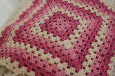 https://flic.kr/p/8bvZoM | One large grannysquare baby blanket | Sublime yarn. Needle size 4. Maren Lie Malmo on Flicker.