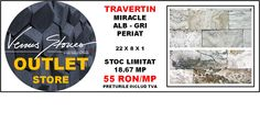 TRAVERTIN miracle alb - gri periat 22x8x1