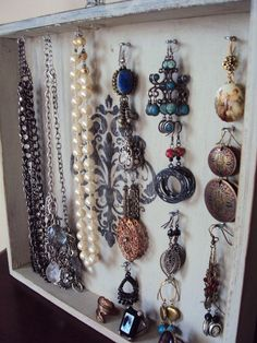 DIY Jewelry Display idea: French Style Jewelry Display Holder Vintage by #rings| http://awesomejewelrycollections384.blogspot.com