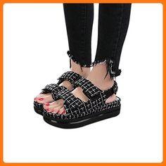 26a30aa1af8347 2016 Summer Black-white Grid cloth Casual Shoes Thick bottom rivet shoes  (8.5) ( Partner Link). Anna Eylson · Flats · Walking Cradles Flick Women s  ...