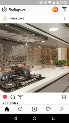 Modern Kitchen Cabinets, Smart Kitchen, Kitchen Tiles, Kitchen Dining, Kitchen Room Design, Home Decor Kitchen, Kitchen Interior, Interior Design Living Room, Living Room Decor