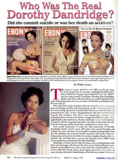 """""Who Was The Real Dorothy Dandridge?"" """