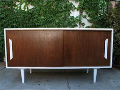 Mid Century Modern Credenza with Sliding Doors - $450