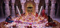 Diwali preparations at BAPS Shri Swaminarayan Mandir, London.