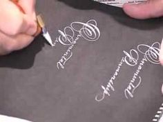 ▶ Michael Sull: Spencerian Script and Ornamental Penmanship II - YouTube