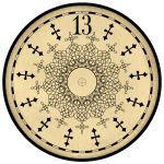 printable haunted mansion clock face!
