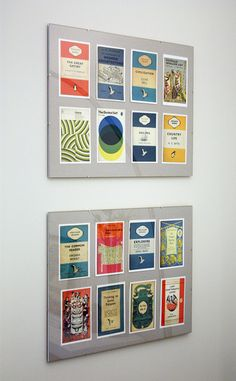 great framing idea for multiple same size pieces of art or mementos