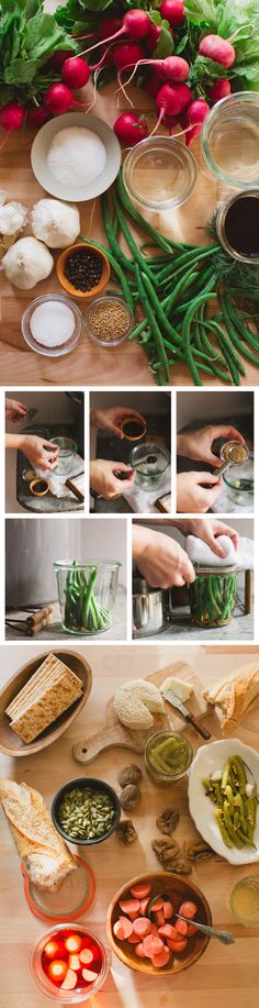 Dilly Bean Recipe Easy Canning + Pickling by Rebecca Gal. Easy Canning, Home Canning, Canning Recipes, Chutney, Pickled Green Beans, Dilly Beans, Freezing Fruit, Canning Food Preservation, Canning Pickles