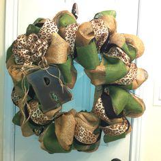 Square burlap wreath