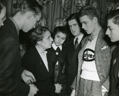 Lise Meitner (1878-1968) with Science Talent Search finalists, 1946