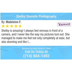 Shelby is amazing! I always feel nervous in front of a camera, and I never like the way my...