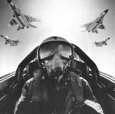 Mig-28s in formation